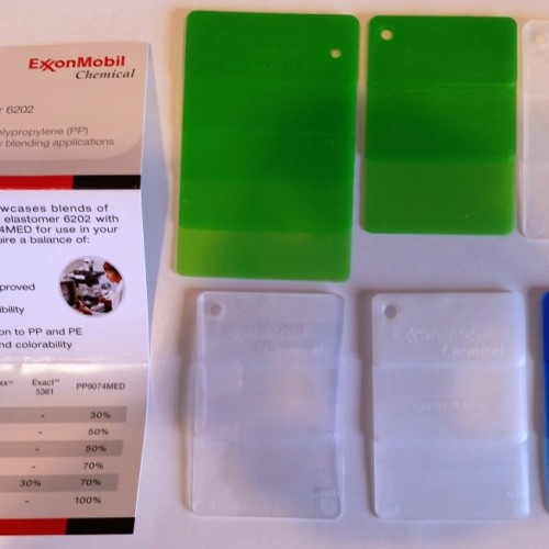 Exxon Vistamaxx Specialty Elastomer 6202 Sample Plaques