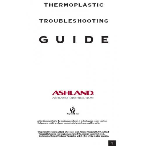 ASHLAND Thermoplastics Troubleshooting Guide (2006)