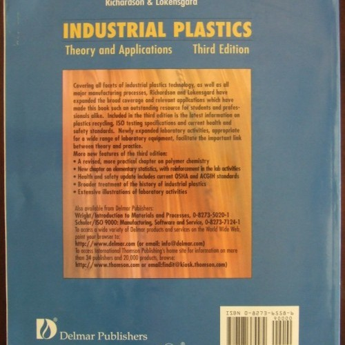 Industrial Plastics Theory & Applications 3RD Edition